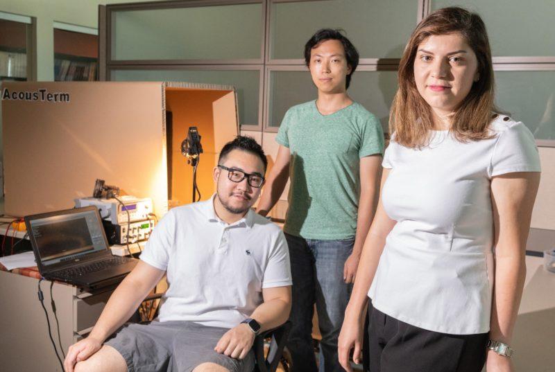 ▲ 微型鬃毛机器人的研究团队。