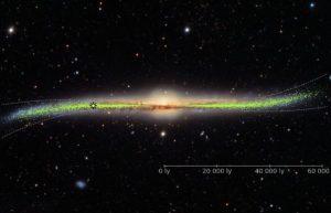 研究发现银河系盘面翘曲不平,可能是卫星星系或暗物质拉扯插图