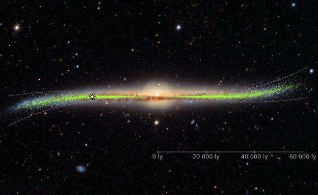 研究发现银河系盘面翘曲不平,可能是卫星星系或暗物质拉扯缩略图