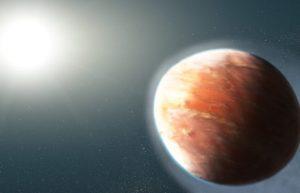 900光年外的系外行星离恒星太近,大气温度高达2500℃大气充满重金属蒸汽插图