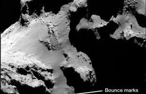 罗塞塔号拍摄到彗星上头的山崩插图