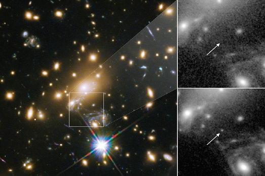 哈勃太空望远镜发现迄今所见最遥远的恒星插图