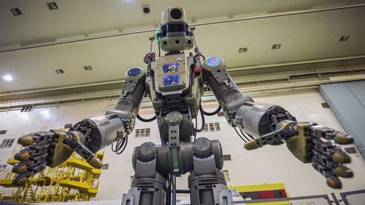 俄罗斯将机器人送上国际空间站