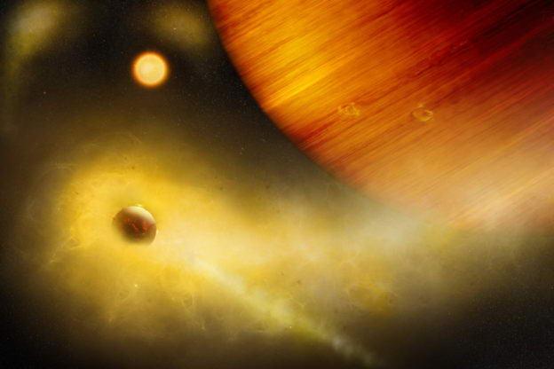 如电影般的地狱场景,550 光年外可能有颗布满活火山熔浆的卫星插图