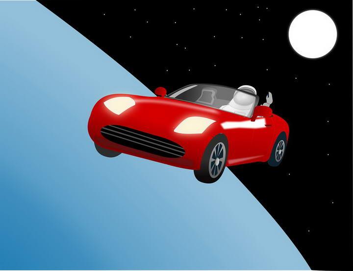 去年马斯克发射到太空的特斯拉跑车Starman现在到哪儿了?