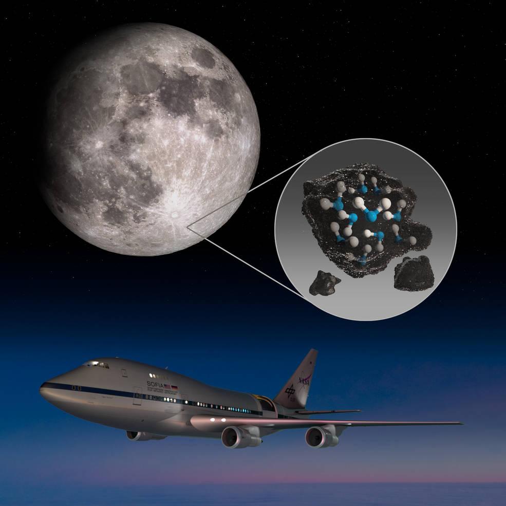 天文学家在月球有阳光照射的表面发现水插图