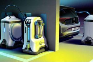 解决电动车充电桩不足,福斯汽车提出「充电机器人」概念缩略图