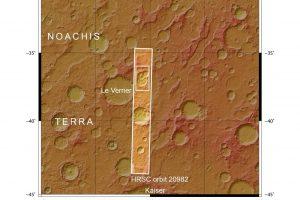 由Mars Express高解析立体相机(HRSC)拍摄的火星三重坑