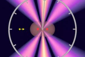 图说:科学家将光子打入氢分子,测量通过两氢原子所需时间