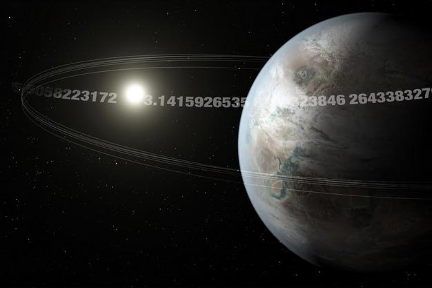 图说π行星编号K2-315b,每3.14天绕主恒星一周,炙热的岩石表面,可能不适合居住。Credit: NASA Ames/JPL-Caltech/T. Pyle, Christine Daniloff, MIT