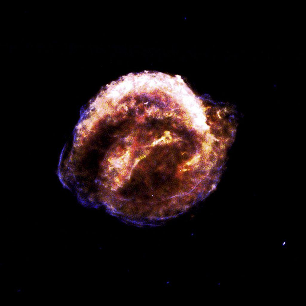 开普勒超新星SN 1604爆发的碎片飞行速度高达1万公里/秒