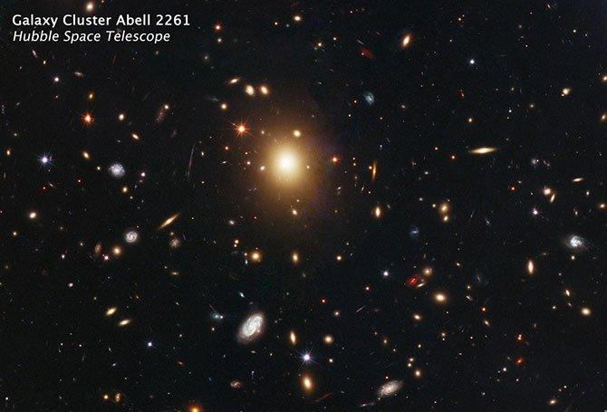 遥远Abell 2261星系中心的超大质量黑洞失踪之谜插图