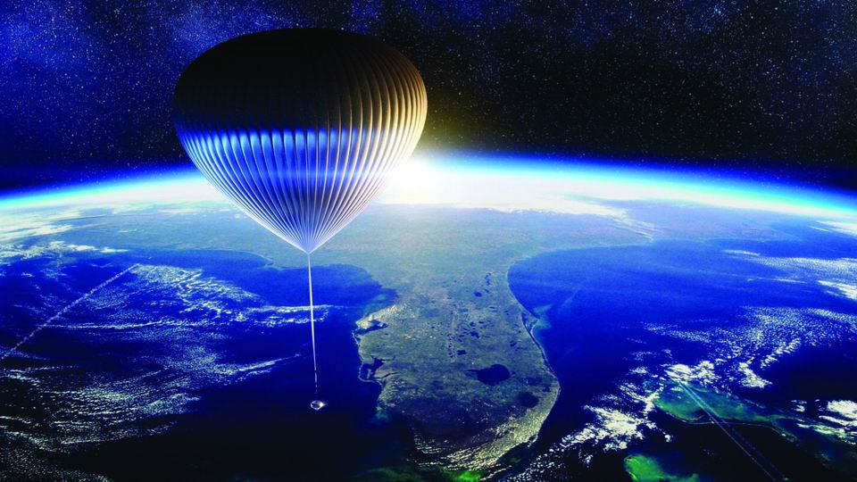 太空气球带乘客到30公里高空看地球,只要12.5万美元