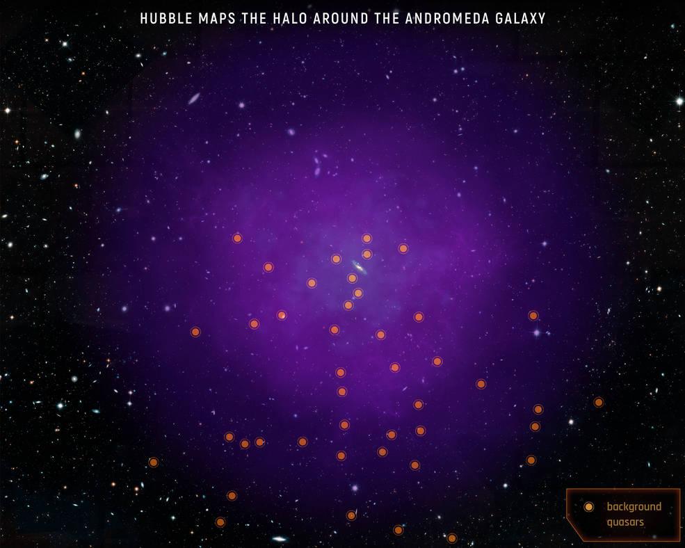 哈勃望远镜首次绘制仙女座星系的银晕气体分布图插图