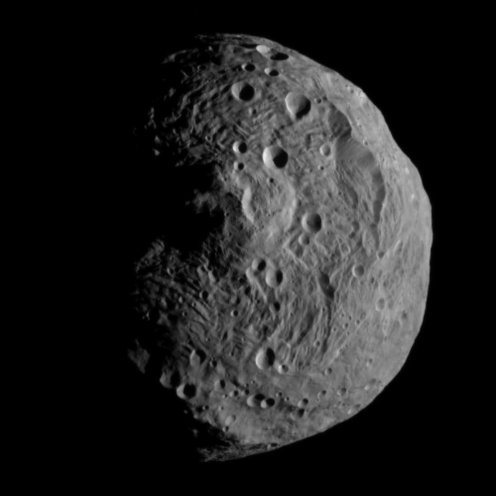 灶神星最高峰:瑞亚西尔维娅山