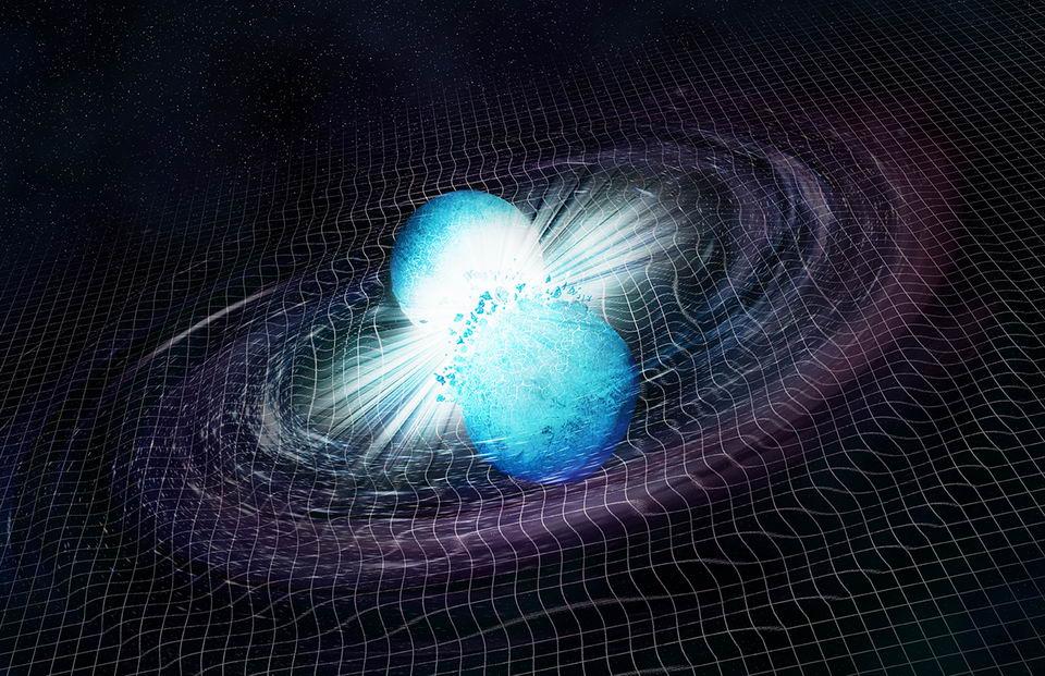 天文学家改进技术能只需10秒钟就能确定双中子星合并产生的引力波