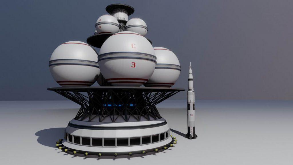 代达罗斯计划火箭和土星五号的对比图,可以看到其规模的庞大