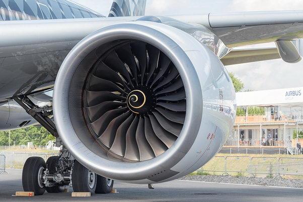 上面是空客A350上安装的劳斯莱斯发动机的螺旋线