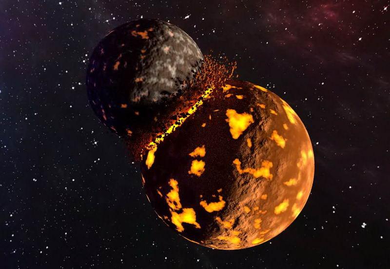 新理论表明地球地幔中的低剪切波速度区是原行星忒伊亚的残余物