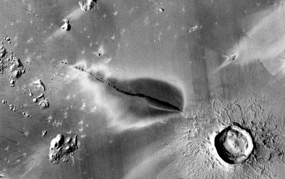 科学家在火星上发现了一座5万年前喷发的火山