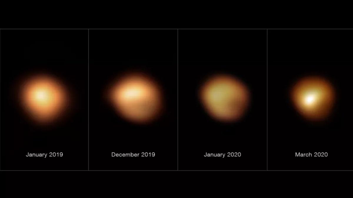 科学家找到参宿四变暗的原因:温度降低导致尘埃凝结成固体星云物质遮挡恒星